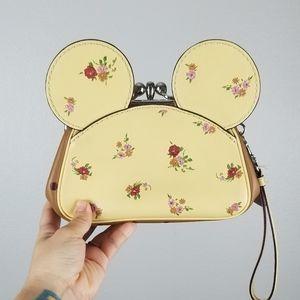Disney x Coach Kiss-Lock Wristlet Minnie Mouse Ear